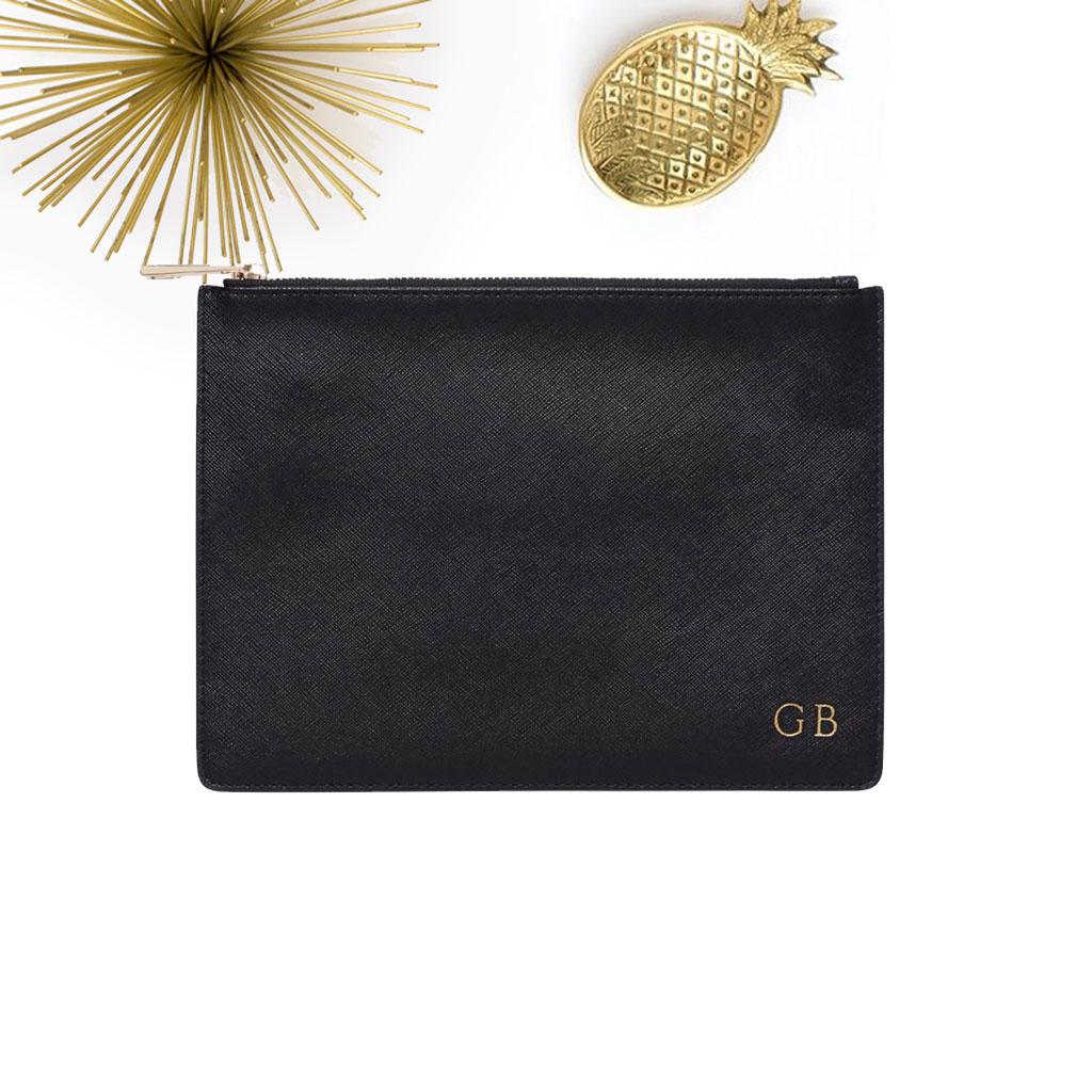 331df11f5fc Gepersonaliseerde handtas / clutch in zwart leer - The M Bar