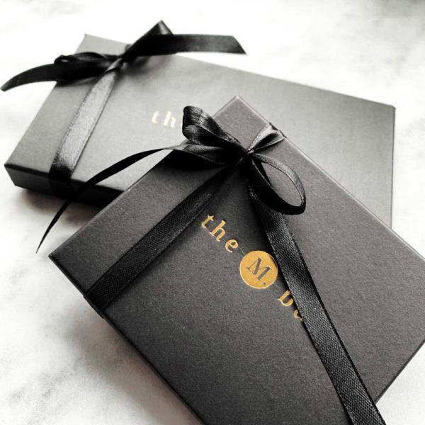 luxe geschenkverpakking zwart goud gratis